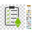 ethereum smart contract icon with bonus vector image vector image