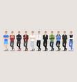 fashion set of guy character vector image