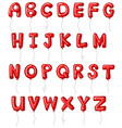 font design for alphabets in red vector image