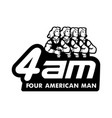 four american man logo for team vector image