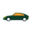 green sport sedan car side view in flat style vector image vector image