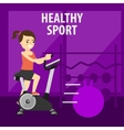 Gym interior with equipment gym vector image vector image