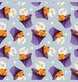halloween sweets seamless pattern vector image
