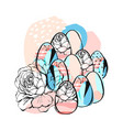 hand drawn abstract creative texture easter vector image vector image
