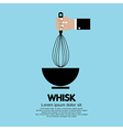 Hand Holding A Whisk vector image vector image