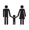happy family parents and son vector image