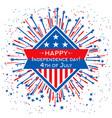 happy independence day banner template 4th vector image
