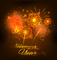 Happy New Year celebration abstract Starburst vector image
