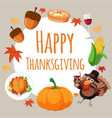 happy thanksgiving card concept vector image vector image