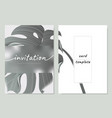 invitation card template design leaves vector image vector image