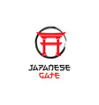 japanese gate logo design inspiration vector image