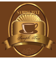 label for coffee vector image vector image