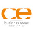 letter c e alphabet element icon vector image vector image