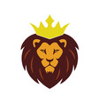lion king crown logo vector image
