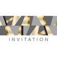 luxury gold and black stripes pattern for header vector image vector image