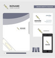 marker business logo file cover visiting card and vector image vector image