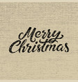 merry christmas calligraphy retro christmas card vector image vector image