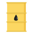 oil petroleum industry barrel with drop sign vector image