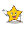 okay star character cartoon style vector image vector image