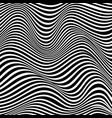 optical art abstract background wave design black vector image