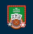 poker casino board light club gambling roulette vector image
