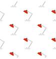red desk lamp pattern flat vector image vector image