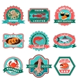 Seafood Emblems Set vector image vector image