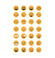 Set of Emoticon vector image vector image