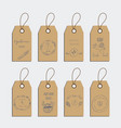 set of organic food tag and label sticker design vector image vector image