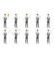 set of with groom character vector image vector image