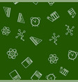 set school and science education line icons vector image