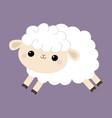 sheep lamb icon cloud shape jumping animal cute vector image vector image