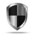 Silver shield with chessboard pattern vector image vector image
