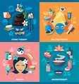 spa treatments 4 flat icons vector image