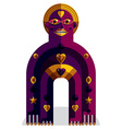 Spiritual totem meditation theme drawing A vector image vector image