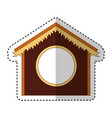 stable manger isolated icon vector image vector image