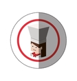 sticker lego with portrait female chef shading vector image