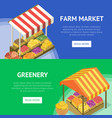 street farm market food stand with canopy vector image vector image