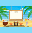 summer seaside poster vector image vector image