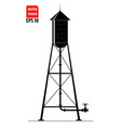 the contour of the old water tower in the united vector image vector image