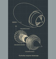 turbofan engine blueprints vector image