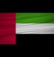 united arab emirates flag flag of united arab vector image