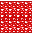 Valentines Day seamless pattern with hearts Love vector image vector image