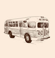vintage vintage bus vector image