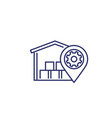 warehouse logistics distribution line icon vector image vector image