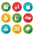 Waste paper Icons Set vector image vector image