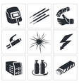 Welding icon collection vector image vector image