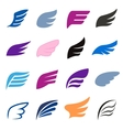 Wing icons set isomettric 3d style vector image vector image
