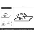 yacht line icon vector image