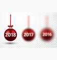 2018 new year christmas balls vector image vector image